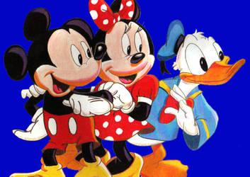 Mickey, Minnie, and Donald. by inscissor