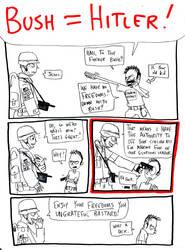 Bush equals Hitler by nick15