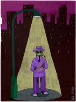 A Purple Jazz Musician by nick15