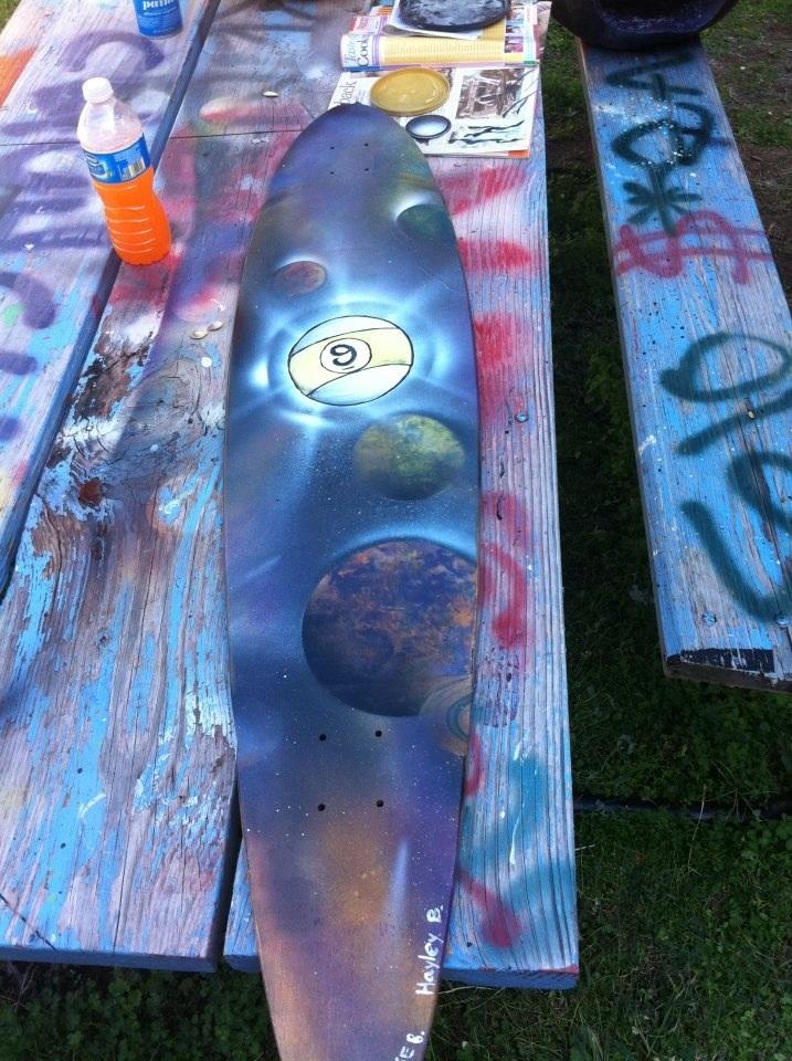 longboard art by hayleybrown2011 on deviantart. Black Bedroom Furniture Sets. Home Design Ideas