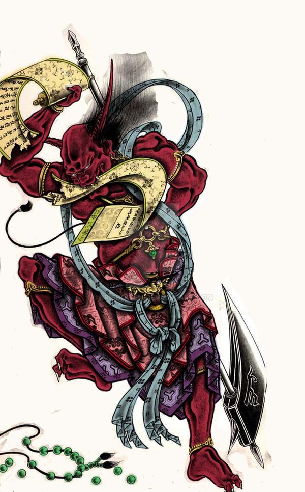 Oni Coloured Horiyoshi Iii By Krisbowen On Deviantart