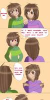 Charisk (frisk x chara) flirting