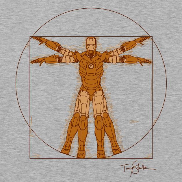 Vitruvian Iron! - T shirt by salvatrane