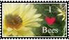 I Love Bees Stamp by kalamadae