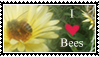 I Love Bees Stamp by kalamadae