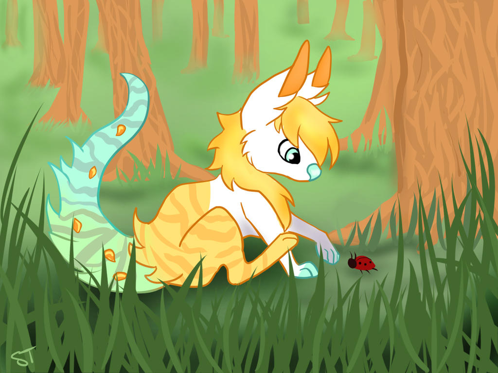 Kit and bug by SpottedTigress