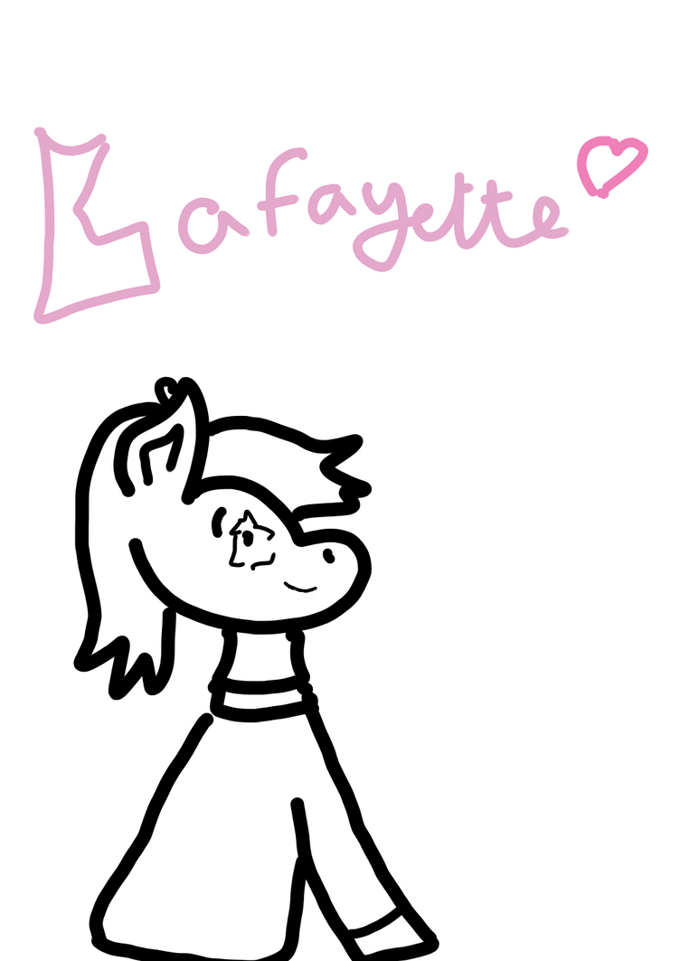 Simple practice drawing of young Lafayette by RioFluttershy