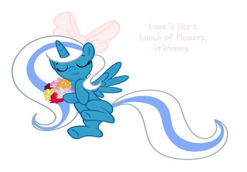 Love is like a blooming flower