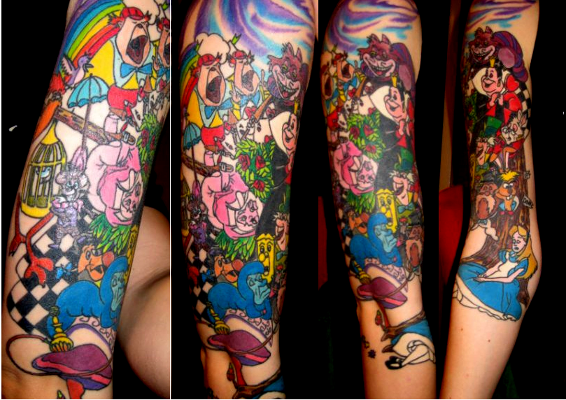 Alice in Wonderland Sleeve - sleeve tattoo
