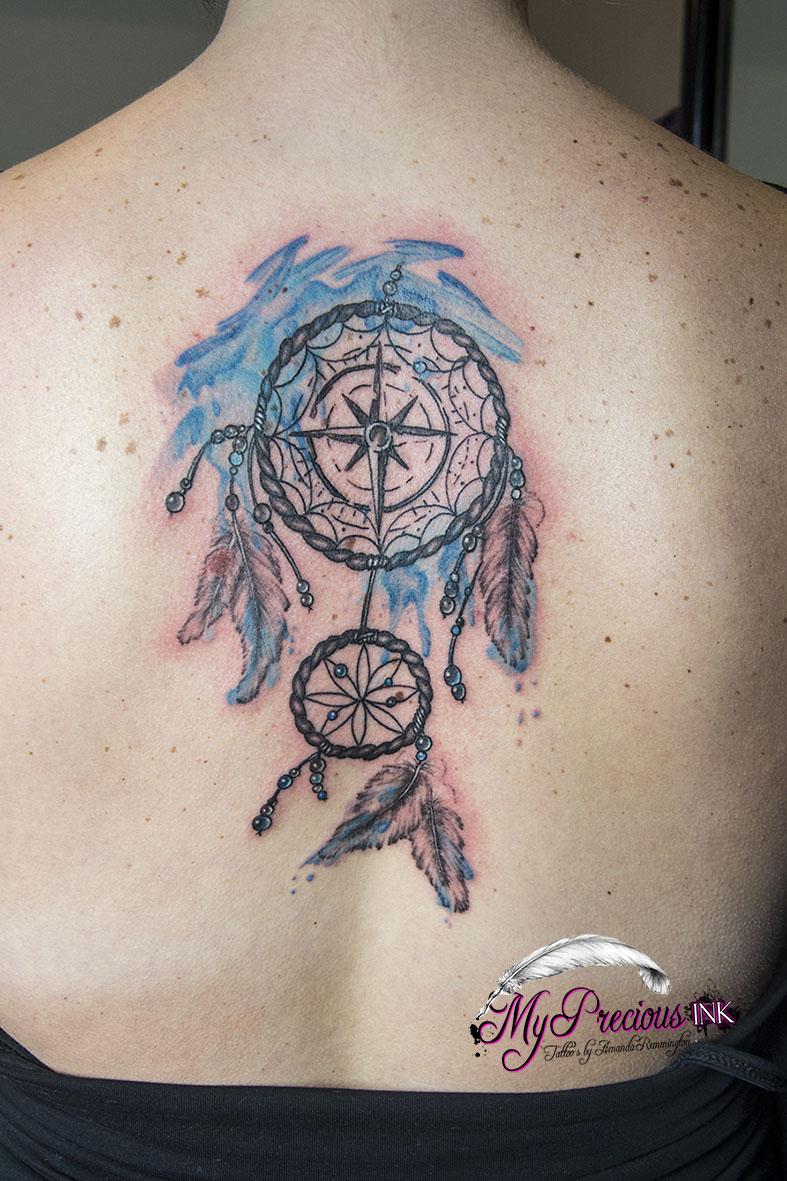 dreamcatcher watercolor tattoo by mentjuh on deviantart