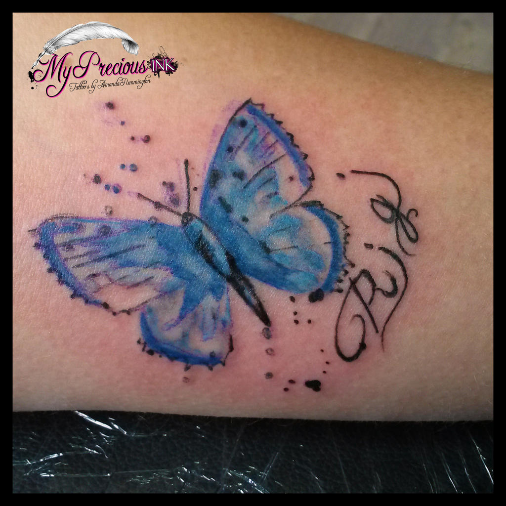Abstract Butterfly Watercolor Watercolor Butterfly Tattoo by