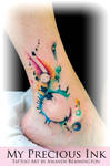 Watercolor Abstract Freehand Tattoo