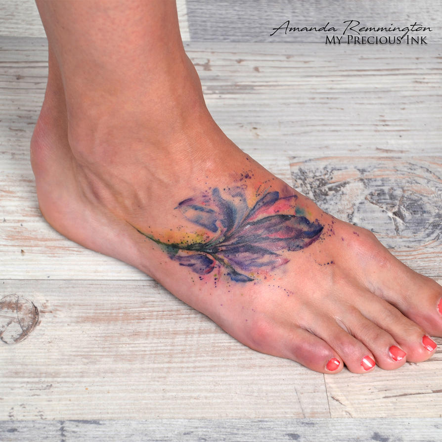 Freehand watercolor iris flower tattoo by mentjuh on deviantart freehand watercolor iris flower tattoo by mentjuh izmirmasajfo