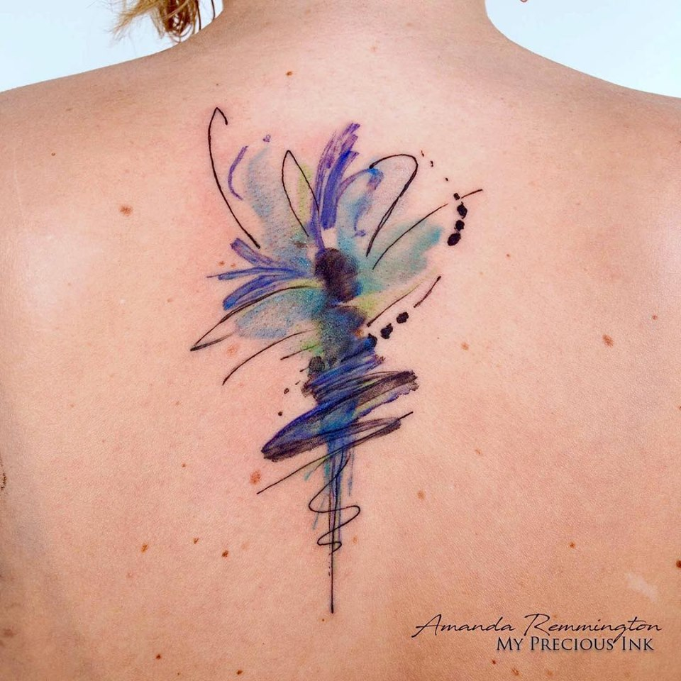 Image result for fairy tattoo watercolor