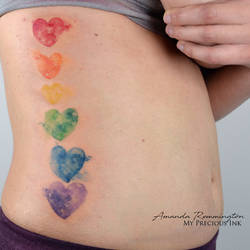 I love those rainbow hearts watercolor hearts by Mentjuh