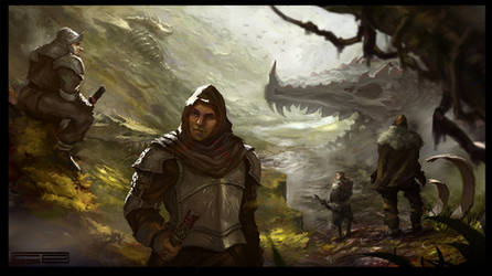 Dragon Cemetary by ClaudioPilia
