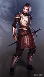 Female Knight by ClaudioPilia