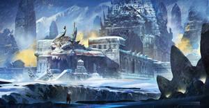 Dragon Temple in the Infinite Snow