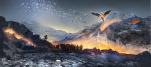 Dragons awakening by ClaudioPilia