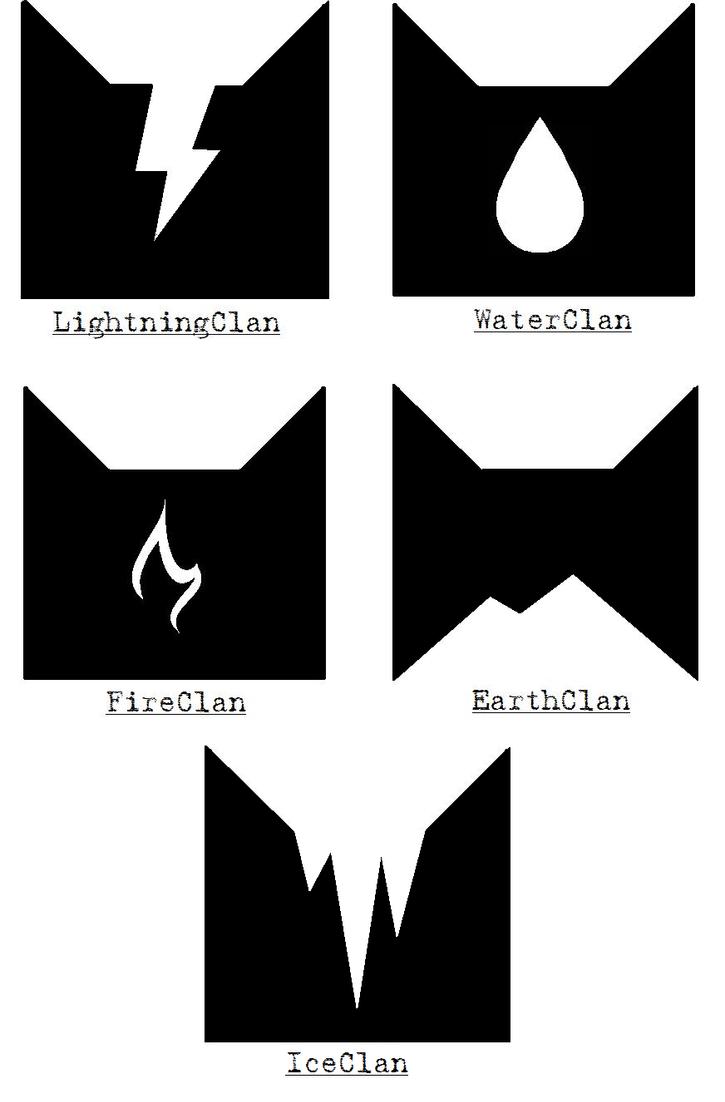 clan symbols by dragontygress on deviantart