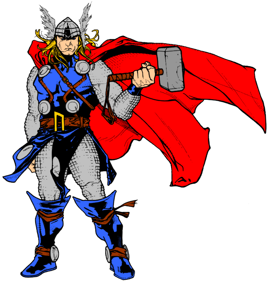 thor and hammer by timothygreenii color by matt2106 on deviantart