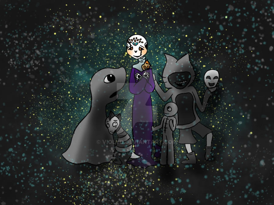 Verdana and her void squad by Violyd