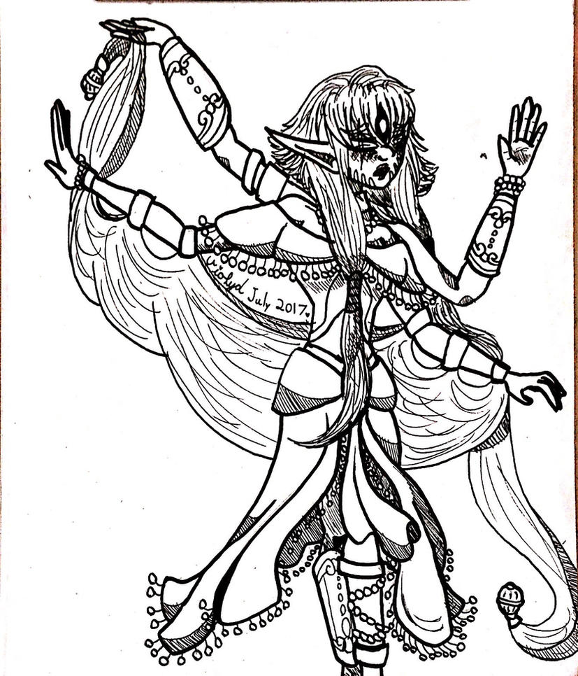 Calibri as a dancer by Violyd