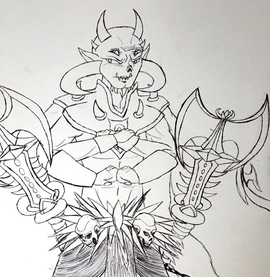 Molag Dagon fusion by Violyd