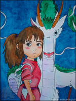 Spirited Away: Haku and Chihiro by NightDragon07