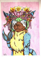 Kahawai and the flowers wreath by NightDragon07
