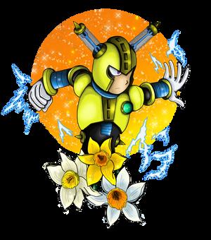 Fuseman with daffodils by NightDragon07