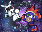 [Collab] Chibi Blastman and Galaxyman by NightDragon07