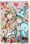 Katsuki and Izuku's Easter by NightDragon07