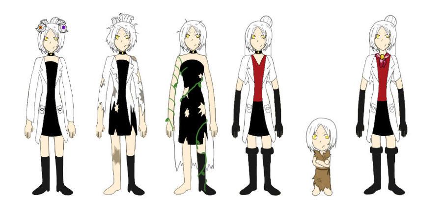 GLaDOS Human Forms Timeline by mistyfoxx244 on DeviantArt