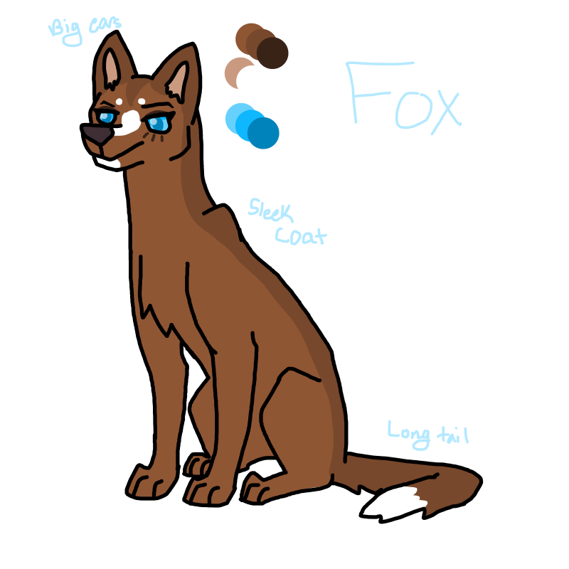 Fox updated reference sheet by WhisperMeow