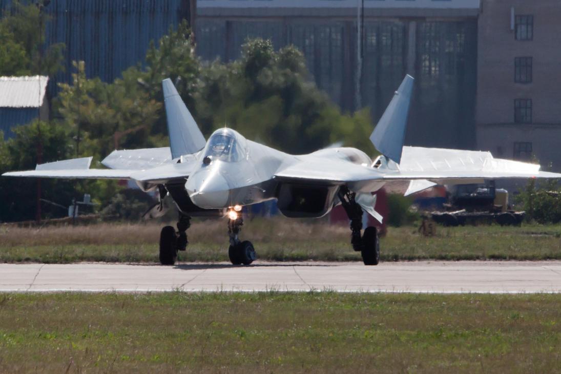 Sukhoi T-50 by dawestsides