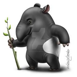 Cartoon Tapir by marciolcastro