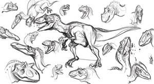 sketch dinos