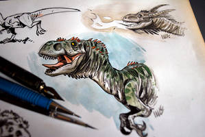 Dragons and dinos by marciolcastro