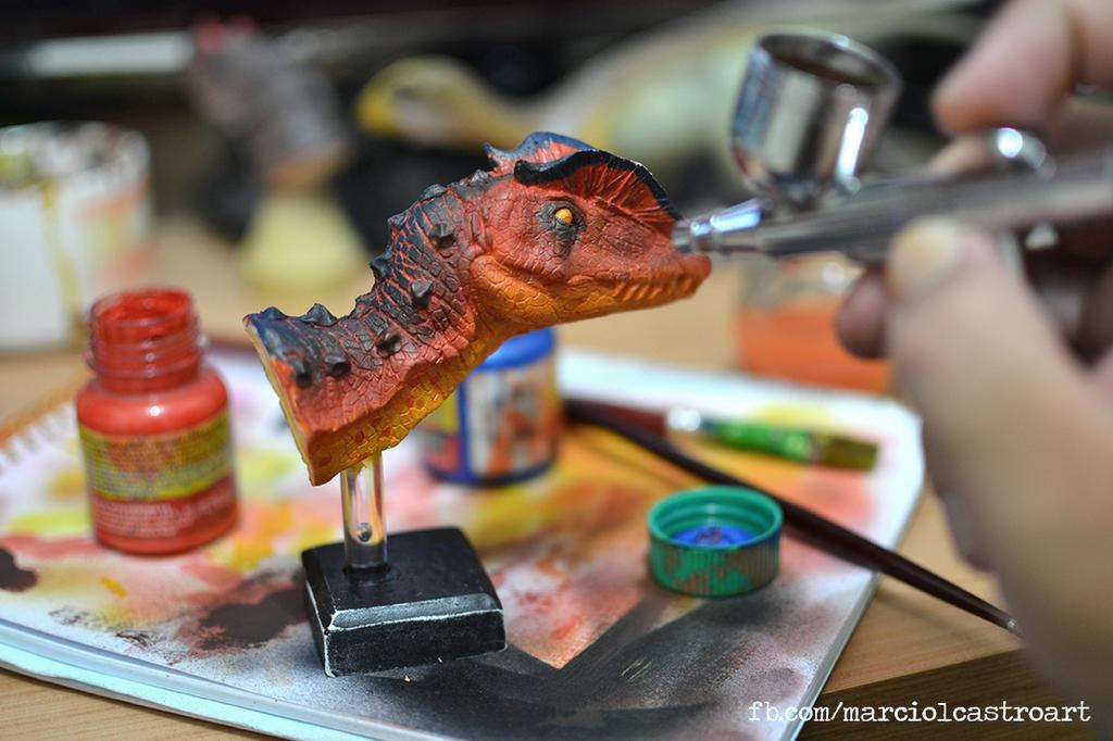 Dilofosaurus - WIP by marciolcastro