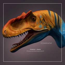 Alosaurus by marciolcastro