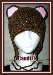 Brown Bear Earflap Hat by Plum-L0c0