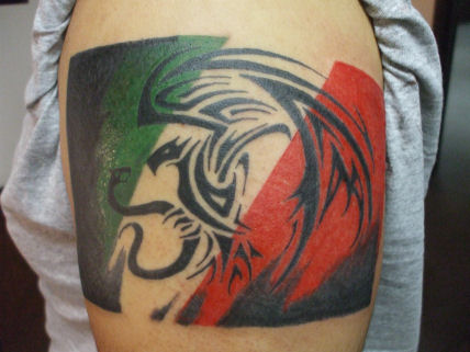 Tribal Mexican Flag by Demonsin-Sanctus