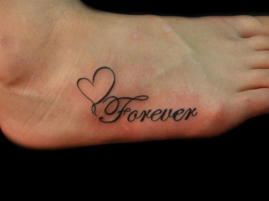 forever foot tattoo by demonsin sanctus on deviantart. Black Bedroom Furniture Sets. Home Design Ideas