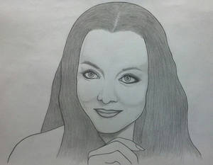 Morticia Addams Portrait