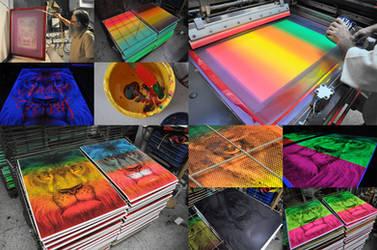 Lion / silkscreen by tind