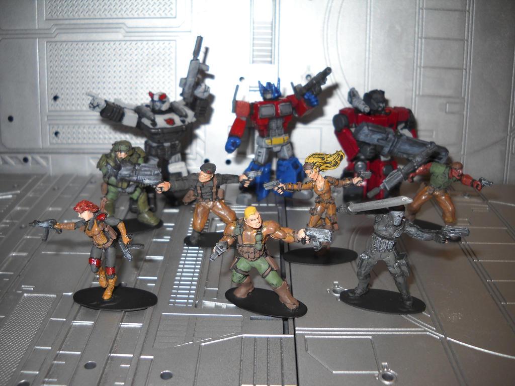 GI Joe Transformers crossover miniatures diorama by Prowlcop