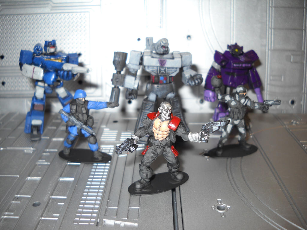 Cobra Transformers crossover miniature diorama by Prowlcop