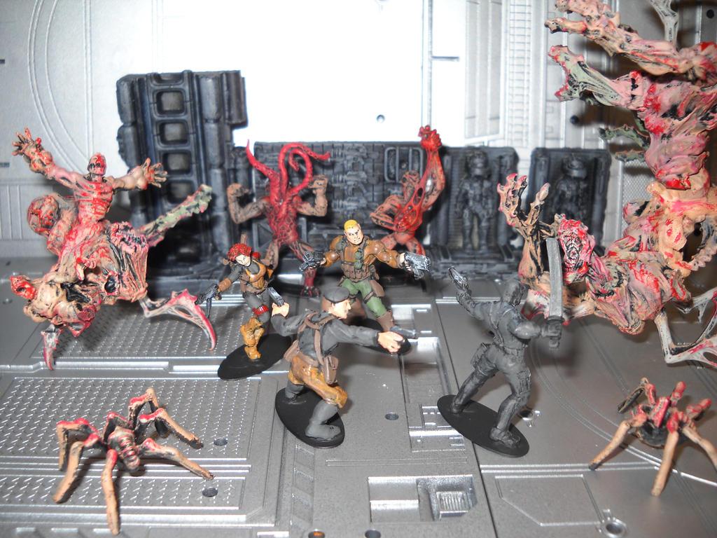 GI Joe vs THE THING crossover miniature diorama by Prowlcop