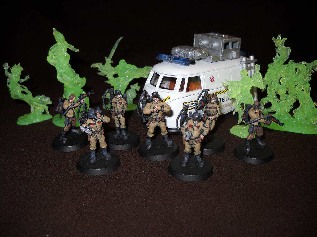 Ghostbusters 28mm miniature RPG figures by Prowlcop
